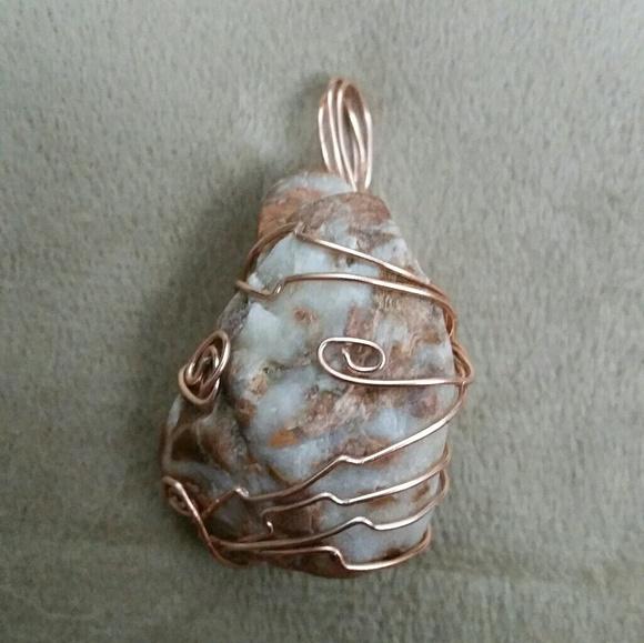 Jewelry | Handmade Wire Wrapped Stone Pendant | Poshmark